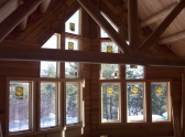 Log home truss completed